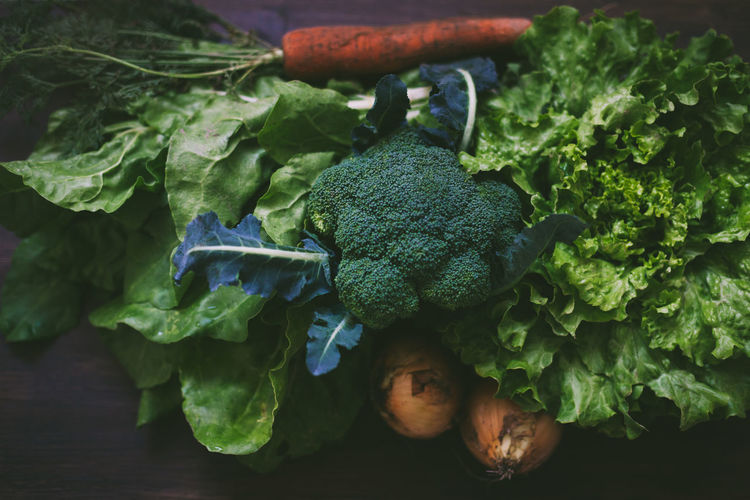 Back from farmer's market 365project Abundance Broccoli Carrots Chard Close-up Day Focus On Foreground Food Freshness Green Green Color Growth Leaf Lettuce Nature No People Onion Organic Plant Selective Focus Still Life A Bird's Eye View
