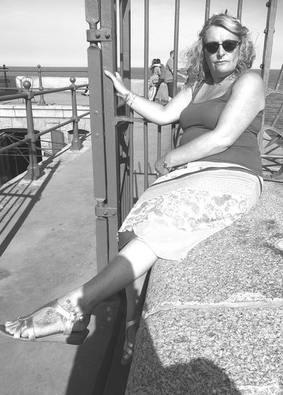 One Person Only Women One Woman Only Outdoors People Folkestone Harbour Huawei P9 Leica Blackandwhite Photography Water Fashion Photography Vintage Style