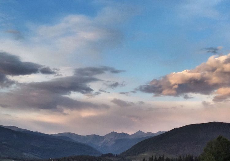 "The ""blue hour"" at Sunset, continental divide, Dillon, CO, summertime"