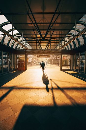 EyeEmNewHere EyeEm Best Shots EyeEm Selects EyeEm Gallery Colors Sunset Sunset_collection Sunset Silhouettes Light And Shadow Urbexphotography Shadows & Lights Sonyalpha Symmetry Symmetrical Men Shadow Silhouette City Railroad Station Platform Railroad Station