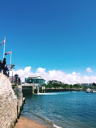 Mayflower steps in Plymouth Architecture Pilgrims Steps Historic Built Structure Water Mayflower Sky History American England English Barbican Flag Patriotism Sea Nautical Vessel City Plymouth EyeEmNewHere City Life Real People Tourism Tourist Destination EyeEm Best Shots