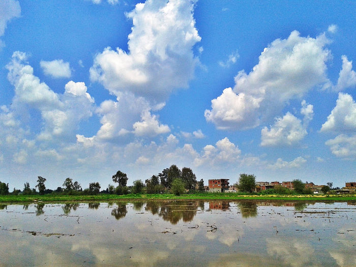 Architecture Beauty In Nature Building Exterior Built Structure Cloud - Sky Day Lake Nature No People Outdoors Reflection Scenics Sky Tranquility Tree Water
