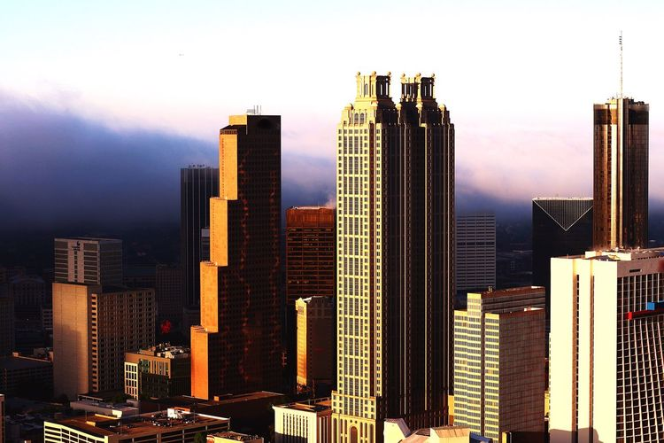 Approaching weather Skyscraper City Architecture Building Exterior Urban Skyline Sky Built Structure Modern No People City Life Cityscape Travel Destinations Development Outdoors Day Cityscape Tourism Modern City Scenics Aviationphotography Atlanta, Georgia ATL Aviation Photography Aerialview