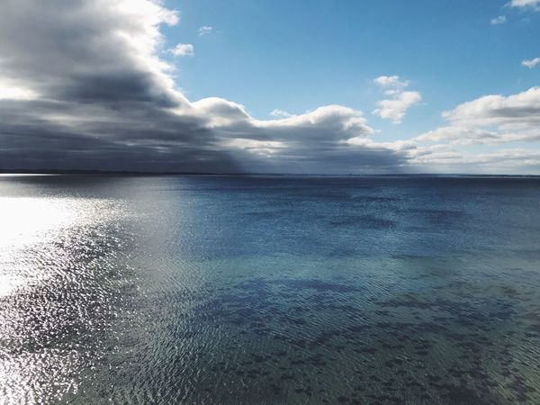 Water Horizon Over Water Scenics Tranquil Scene Sea Beauty In Nature Tranquility Seascape Blue Idyllic Cloud Nature Majestic Reflection Non-urban Scene Cloud - Sky Calm Waterfront Cloudscape