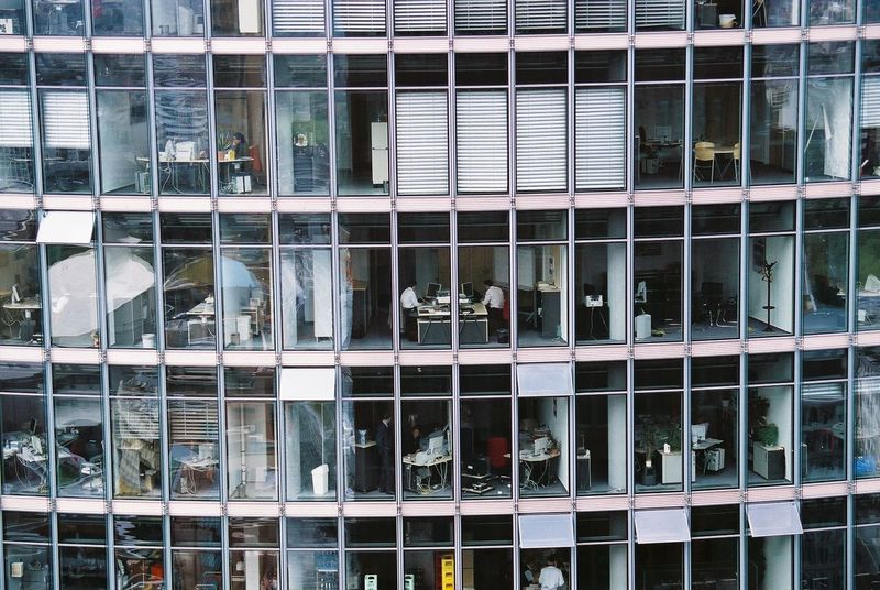#Berlin #office #Work Business Glass - Material Modern Repetition Urban Window