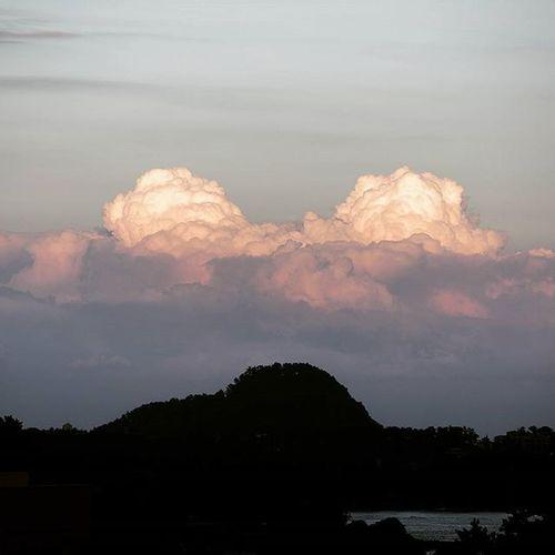 섬뒤에 구름산 구름산 구름 제주도 서귀포 제주출장끝 집에간다 피곤해죽음