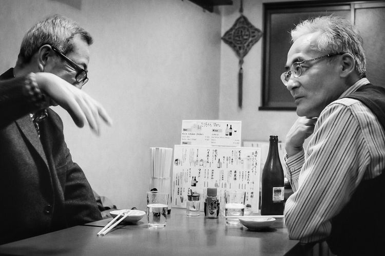 Conversations of yesteryear. Ultimate Japan Fine Art Photography On The Way People Together