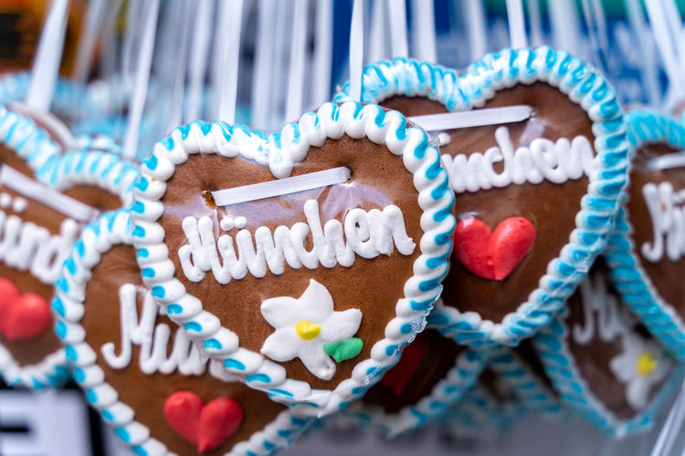 Close-up of heart shape cookies