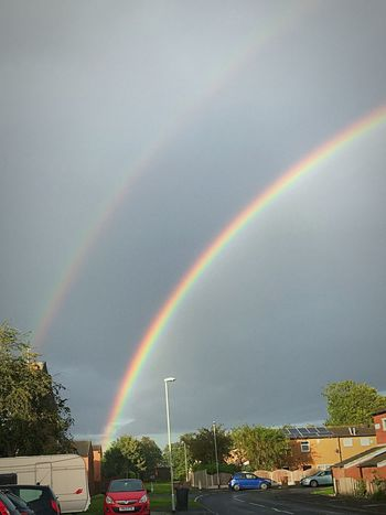 Rainbow Double Rainbow Multi Colored Weather Beauty In Nature Nature Scenics Tree Outdoors Cloud - Sky No People Sky Iphoneonly تصويري  Taking Photos Iphone7 تصويري♡ Libyan Style ليبيا Libyangirl Libya Girl♥ Libyan