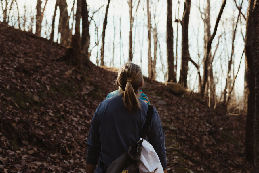 Autumn Hiking Travel Tree VSCO Adults Only Autumn Day Fall Forest Forest Photography Nature One Person Outdoors People Real People Rear View Sport Standing Travel Destinations Tree Tree Trunk Vscocam Women Young Adult