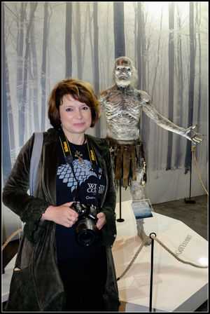 We both ... Cuteness reloaded Game Of Thrones Fantastic Exhibition Exhibition White Walker Hanging Out Taking Photos Enjoying Life Check This Out