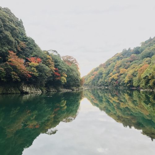 Reflection Water Nature Scenics Beauty In Nature Outdoors Lake River Riverside Kyoto Japan Autumn Tree Sky No People