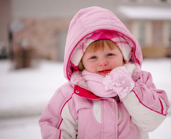 All bundled up but still cold. Snow days!! Playful Winter Bundled Up Bundled Up! Snow Kid Girl Pink Color Baby Cute Babyhood Knit Hat Warm Clothing One Person Innocence Smiling Winter Toddler  Childhood Cold Temperature Real People Happiness Snow Outdoors Portrait Cheerful