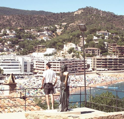 Tourist Travel Destinations Tourism Leisure Activity Architecture Lifestyles Sculpture Tossa De Mar Lookout Mountain Lookout Summertime Beach Holiday Catalunya Be. Ready. EyeEmNewHere Focus On The Story
