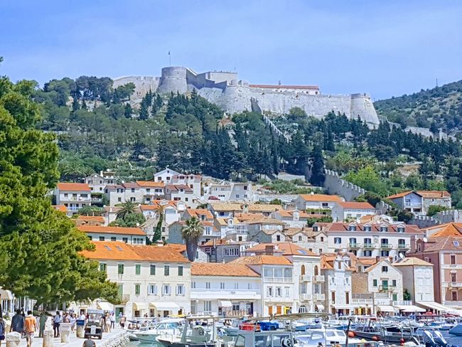 Travel Destinations Vacations Town Outdoors City Day Cityscape Mountain People Tree Nautical Vessel Sky Dalmatia Postcardsfromcroatia Croatia Galaxys7picture Vacations Architecture Building Exterior Postcardscollections City Cityscape Hvar Hvar Island Croatia Adriatic Sea