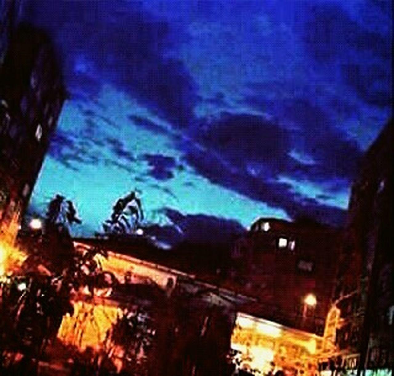 night, illuminated, no people, outdoors, city, nature, animal themes, sky