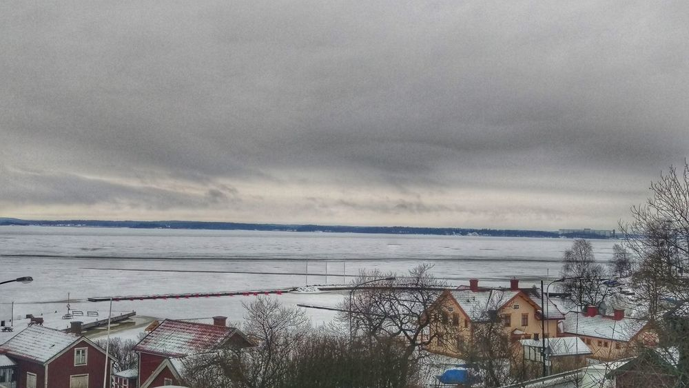 It's Cold Outside Iced Sea Frost Village Nature Snow ❄ Snow Northern Europe Scandia Scandinavia Sweden EyeEm Gallery Winter Kolmården January View Snow Covered Winter Scene Houses