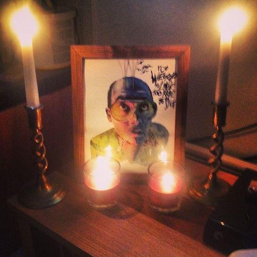 Fearnloathing Shrine Candles Toowiredtolivetooraretodie johnnydepp huntersthompson art sundays