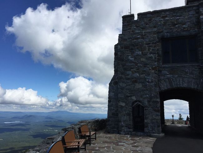 Lake Placid Whiteface Adirondack Mountains Mountain View Sky And Clouds Sky Architecture Built Structure Cloud - Sky Building Exterior History Outdoors Day Travel Destinations No People Nature
