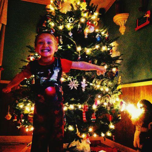 Christmas Tree Christmas Lights Throwback❤