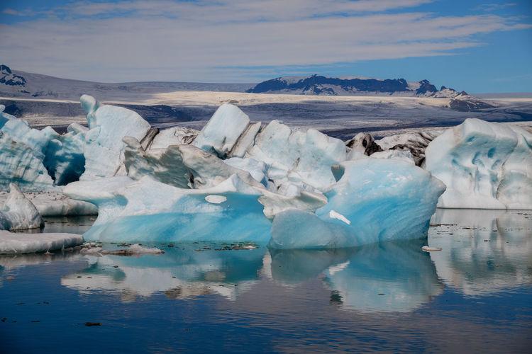 Close-Up Of Icebergs On Lake At Jokulsarlon Glacial Lagoon