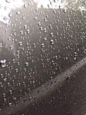 Wassertropfen auf dem auto Whater Rein Reining