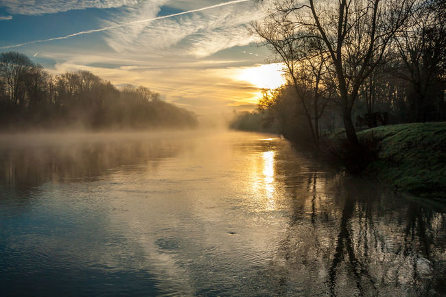 levé de soleil hivernal sur la Marne Beauty In Nature Brume Matinale Brumes Hivernales Cloud - Sky Day Landscape Lever De Soleil Má Nature No People Outdoors Reflection Reflet River Riviere Scenics Sky Sunrise Sunset Tranquil Scene Tranquility Tree Water EyeEmNewHere