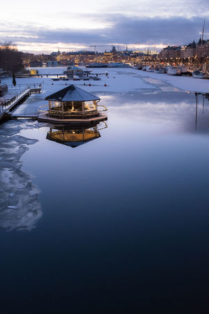 Ice Ice On The Water Stockholm Sweden Architecture Beauty In Nature Built Structure Day Industry Lake Nature No People Old City Building Outdoors Reflection Reflections In The Water Scenics Sky Sunset Tranquility Water Waterfront Winter Sunset