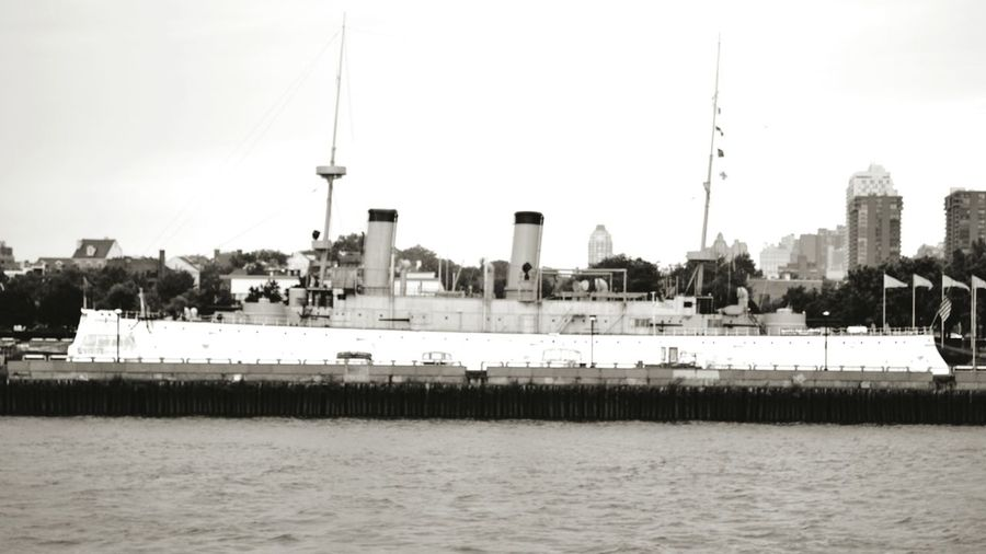 Battleship USS Olympia Admiral Dewey Philadelphia Delawareriver Black And White Friday