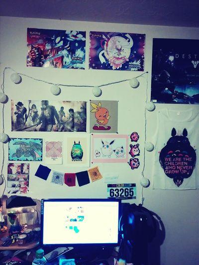 My geek wall. Pokemon. Gaming Alienwarex51.