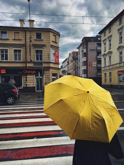 Paint The Town Yellow Arch City Yellow Umbrella Rainy Days Zebra Crossing The Week On EyeEm
