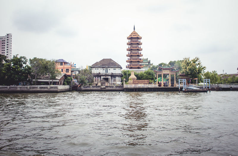 Architecture Boat Trip Fromwhereistand Grey Sky Outdoors Riverside Temple Water