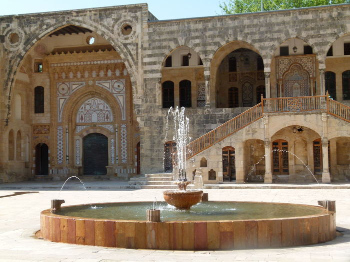 Architecture Built Structure Building Exterior Arch The Past History Fountain Water Building Day Nature Outdoors No People Travel Destinations Tourism Old Courtyard  Religion Travel Architectural Column Arched Well