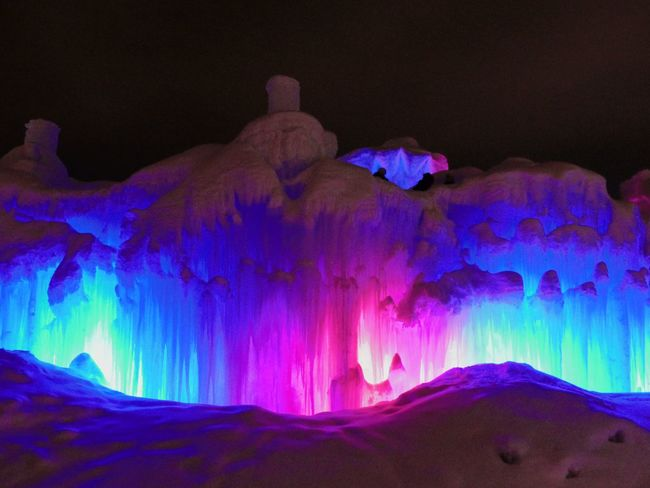 Ice Castle Edmonton Alberta Canada 🇨🇦 feb 2018 Youtube Photographer Cold Temperature Hawrelak Park Artisan Art Rare Cool Edmonton CrazyFunnyCats Leica Lens Lumix Panasonic  Huge Ice Freezing Yeg Winter Colorful Color Icecastle Cold Temperature Beauty In Nature Physical Geography Nature Scenics Winter Tranquil Scene Outdoors No People