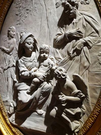 Castello Estense, mostra Cavallini-Sgarbi Castles History Art #exhibition Virgin Mary Sculpted Human Representation Carving - Craft Product Bas Relief Art And Craft