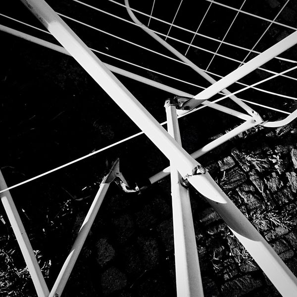 Wrecked drying rack on the street Drying Rack Broken Trash Streetphoto_bw Streetphotography Urban Geometry Lines Geometry Abstract Shapes Minimalism Minimalobsession