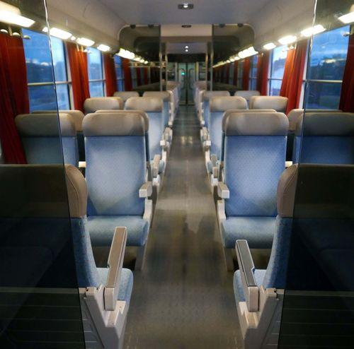 empty seats Empty Seats Empty Train Armchairs Vanishing Point Graphic Symmetry Travel France