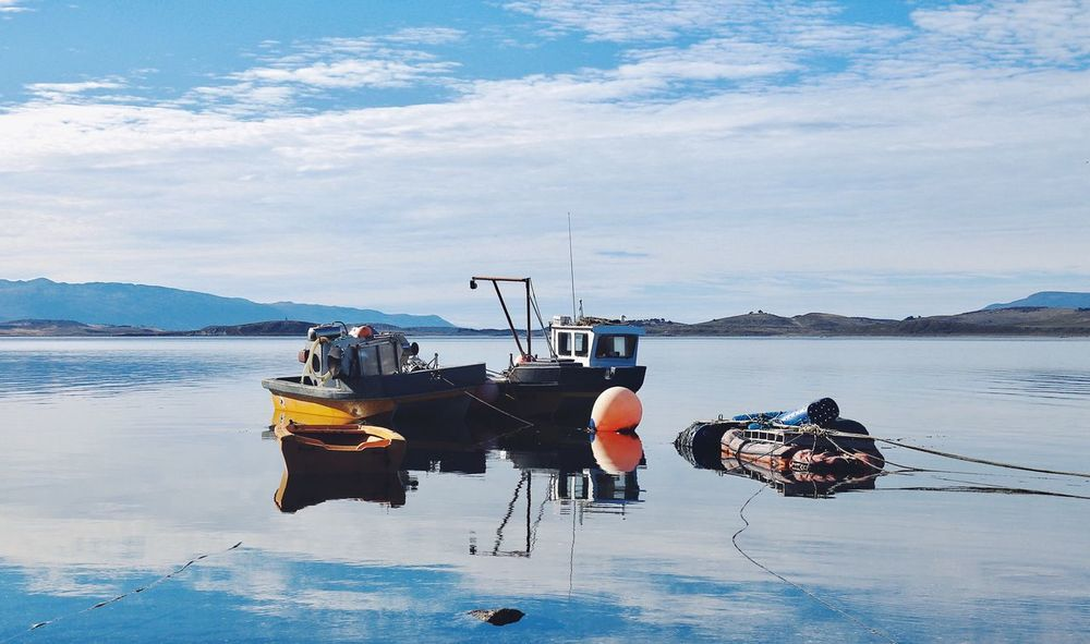 Nautical Vessel Transportation Sky Cloud - Sky Mode Of Transport Water Nature Sea Real People Day Outdoors Beauty In Nature Men One Person Scenics Mountain Full Length People Tierradelfuego Beagle Channel South America Argentina Boats Boat