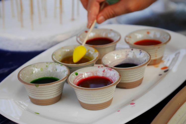 Thailand Photos Gf8 Human Hand Blood Orange Breakfast Close-up Prepared Food Strawberry Jam