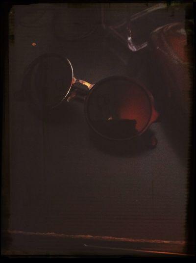 New York Glasses Vintage Grungy