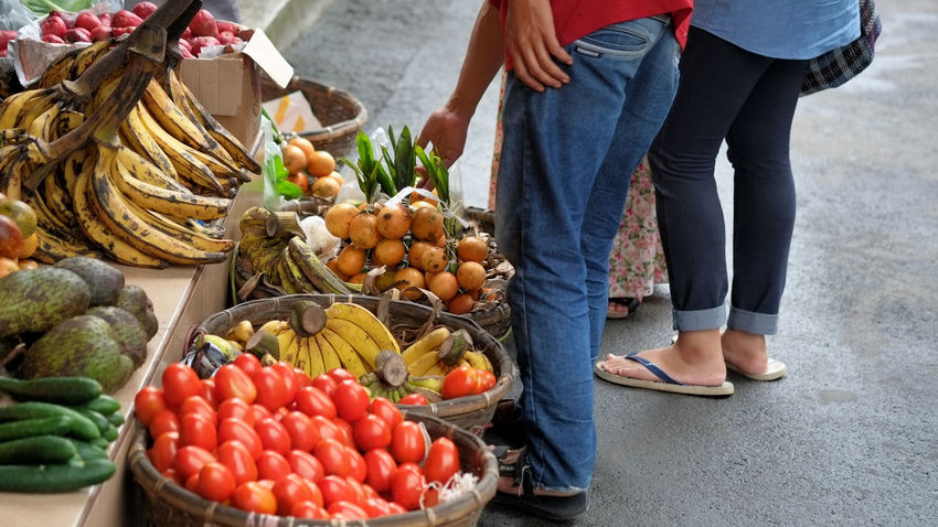 EyeEm Gallery EyeEm Best Shots Fruit And Veggie Fruit And Vegetable Vegetables Healthy Food Fresh Vitamin A Red Fruits Basket Tomatos The Shop Around The Corner Vitamin C Market Traditional Market Vibrant Buyer And Seller Trade Banana Cucumber Yellow Soursop The Street Photographer - 2016 EyeEm Awards
