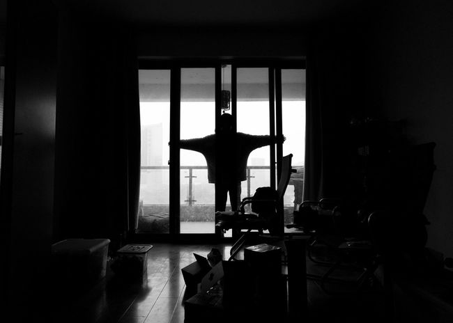 2018-11-09 Indoors  Window Architecture No People Silhouette Built Structure Table