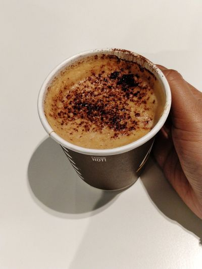 the love for caffeine can make me a crazy person! EyeEm Selects Coffee - Drink Coffee Cup Drink Frothy Drink Food And Drink Human Body Part Refreshment Cappuccino Human Hand Latte Espresso Hot Chocolate Coffee Break People Mocha