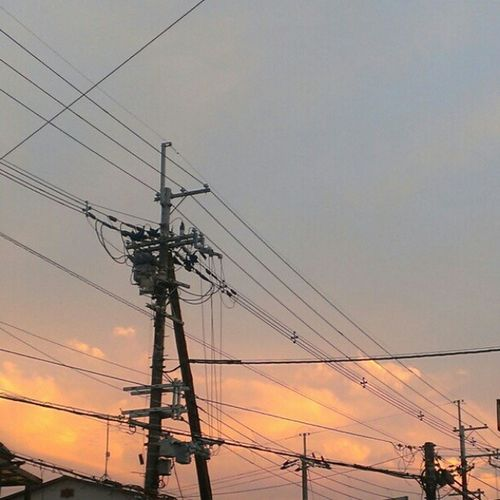 #sunset #magichour #electricline #sky #cloud #イマソラ Sunset Sky Cloud Magichour イマソラ Electricline