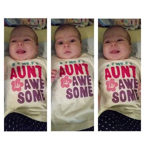 seeing auntie today 😊 Skye Herauntie Brittney Visitstoday cutie