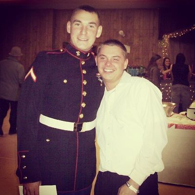 Me & My brother at his wedding reception. Throwback