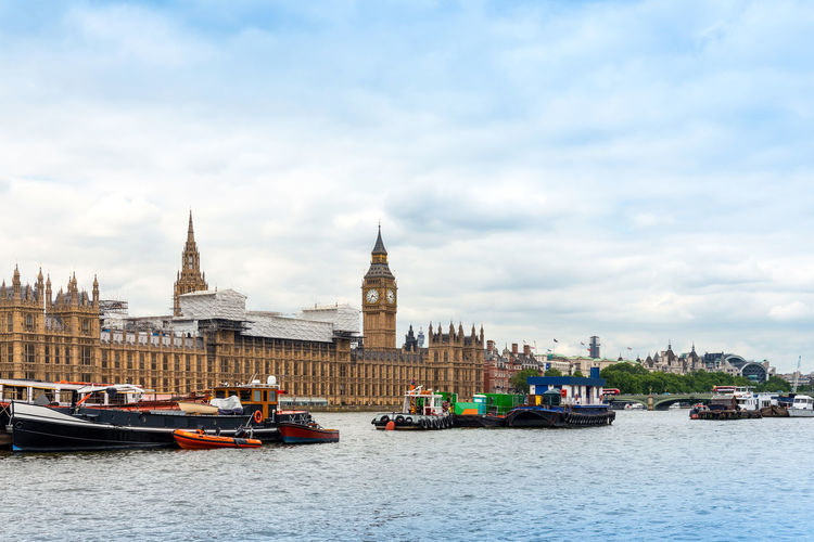 Architecture Big Ben Building Exterior Built Structure Cloud - Sky Day History Mode Of Transport Nature Nautical Vessel No People Outdoors Sky Transportation Travel Destinations Water Waterfront