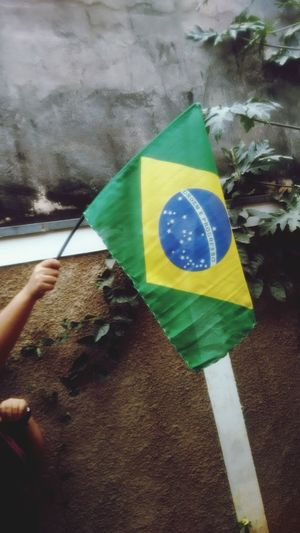 Put your flags up in the sky FIFA World Cup Of 2018 Brazil Brasil ♥ EyeEm Selects Go Brazil! Close-up Flag National Flag National Icon Symbolism
