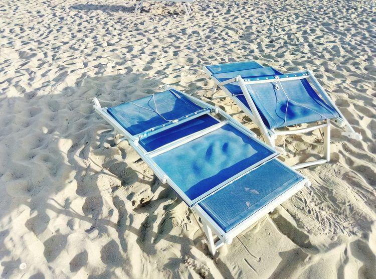 Sand Beach Shadow Deckchairs On The Sand