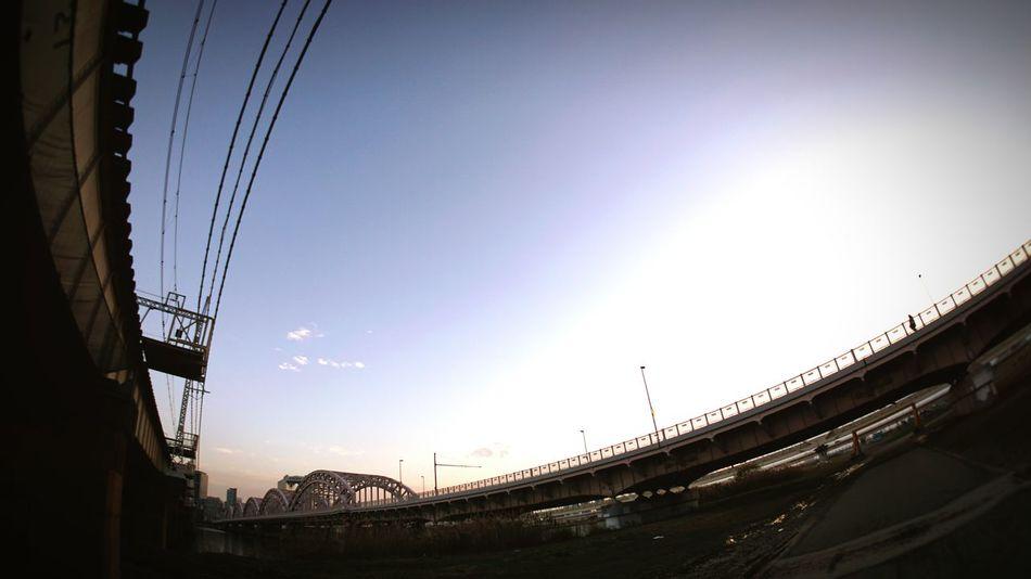 Osaka, Japan Sport Sky Low Angle View Stadium Dramatic Sky Outdoors No People Day Bridge 淀川